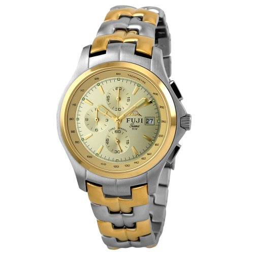 Fujitime Men's M2135T-E ''Churenji Series'' Two-Tone Chronograph Stainless Steel Watch