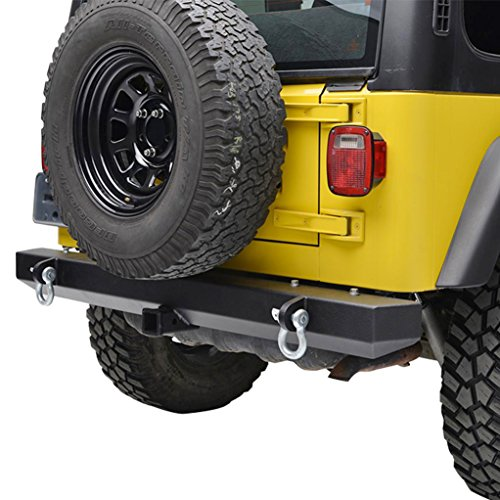 E-Autogrilles 87-06 Jeep Wrangler YJ TJ Off Road Classic Rear Bumper with 2