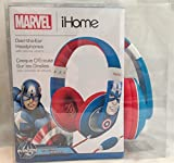 eKids MC-M402 Marvel Avengers Captain America Over Ear Headphones with Volume Control, by iHome