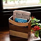 ExclusiveLane Elegant Magazine Cum Newspaper Stand / Holder In Sheesham Wood- For Gift / Home Décor