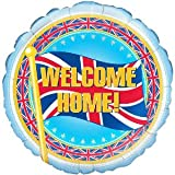 Welcome Home Great British Flag balloon delivered inflated in a box