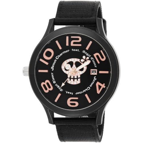 [エンジェルクローバー]Angel Clover 腕時計 JimysCharmerコラボモデル ブラック文字盤 500本限定 ポリカーボネイトケース ナイロン/カーフ革ベルト JC48BK メンズ