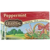 Celestial Seasonings Herb Tea, Peppermint, 20-Count Tea Bags (Pack of 6)