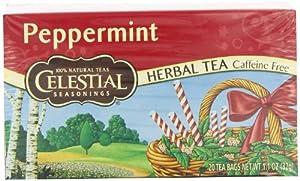 Celestial Seasonings Peppermint Tea, 20 Count (Pack of 6)