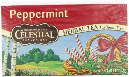 Celestial Seasonings Herb Tea, Peppermint, 20-Count Tea Bags (Pack of 6)