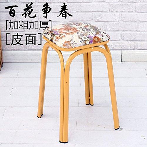 Home alti sgabelli di attuazione congiunta e Creative elegante facile ferro banchi di partito Soft-Round sgabello sedie Baihua sempre primavera pelle [ ][ Bold Thick ]