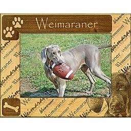 Giftworks Plus DBA0168 Weimaraner Alder Wood Frame 5 x 7 In WLM