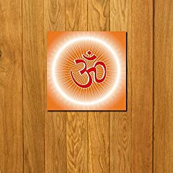999Store doorhanging OM light art printed wooden framed door sticker (4 x 4 inches)