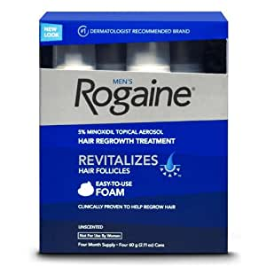 Rogaine Hair Regrowth For Men 5% Foam 4pk