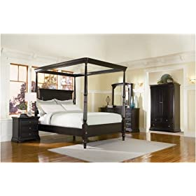 Sahara California King Canopy Bedroom Set