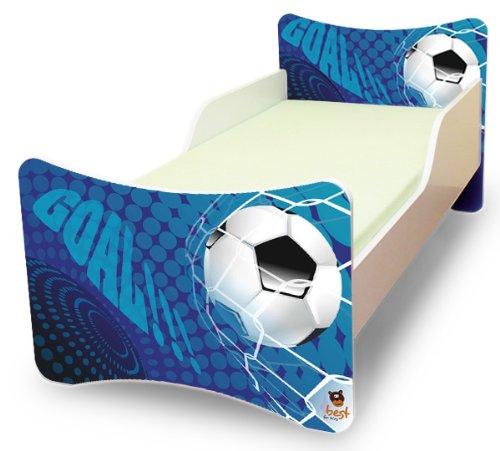 Best For Kids Kinderbett 70×140 Goal + Matratze + Lattenrost + Wandaufkleber günstig bestellen