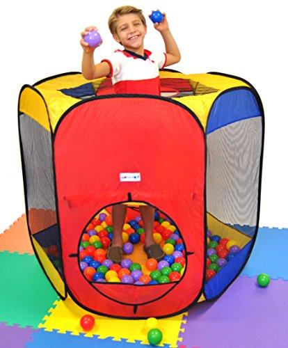 Six Sided Hexagon Twist Tent Generation 3 W/ Sturdier Materials, Safer Design & Ball Stopper