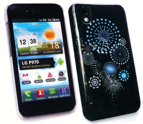 Emartbuy Lg Optimus Black / White P970 Mitternacht Ein Feuerwerk Super Slim Clip On Protection Case / Cover / Skin