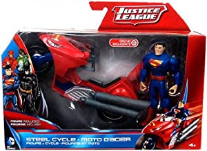 DC Comics Justice League Exclusive Superman and Steel Cycle