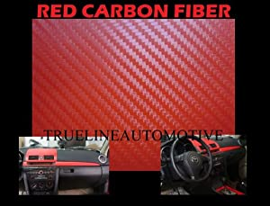 2009-2012 MERCEDES BENZ SL63 AMG RED Carbon Fiber Hood Dash Mirror Roof Wrap Sheet Vinyl Decal 12'' x 60'' 2010 2011 09 10 11 12 MERCEDES-BENZ R230