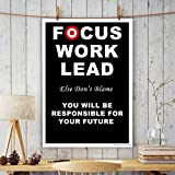 ALDIVO® Office Wall Poster | Office Door Poster | Home Wall Poster (Focus Work Lead)