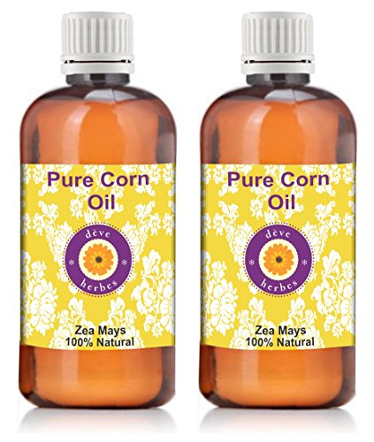 Pure Corn oil - Pack of Two (100ml + 100ml) Zea mays 100% Natural Cold pressed
