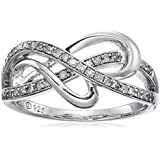 Sterling Silver Diamond Heart Ring (1/4 cttw, I-J Color, I3 Clarity)