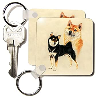 Shiba Inu - Set Of 2 Key Chains