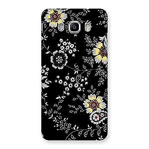 Ajay Enterprises BlackBG Flower Back Case Cover for Samsung Galaxy J5 2016