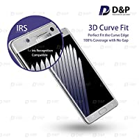 D&P Samsung Galaxy Note 7 3D Curve Fit Tempered Glass Screen Protector,Perfect Fit / Anti-Fingerprint / High-Transparency / Can't Fit All the Cases / Anti-Bubbles / Anti-Scratch[1+1 pack][Silvery] by D&P
