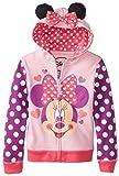 Disney Little Girls' Minnie Heart Bow Hoodie