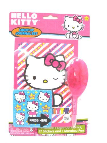 Hello Kitty Light Up Journal Set Stationery - 1