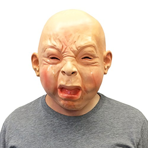 Creepy Cry Baby Full Head Face Mask Halloween Costume - Off the Wall Toys