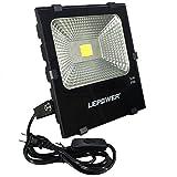 LED投光器 フラッドライト 作業灯 50W 家庭用でもOK 屋外照明 演出照明 昼白色 スイッチ付き IP66防水防塵 18ヶ月保証