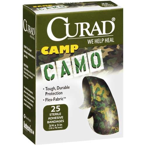 curad-camp-camo-25-sterile-flexible-pflaster-army-camouflage