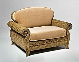 Extra Large Wicker Lounge Chair W Upholstered Cushions South S