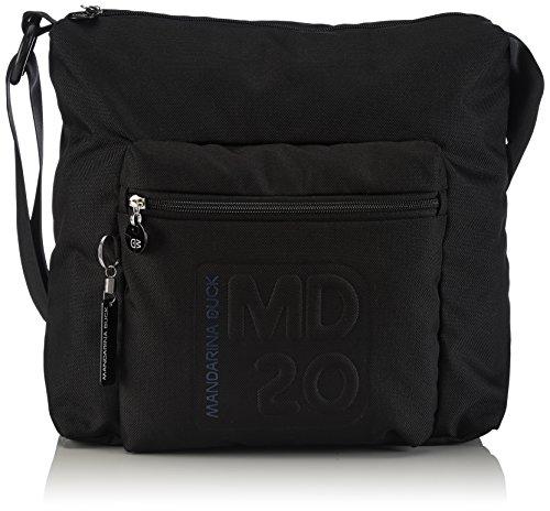 mandarina-duck-womens-md20-tracolla-black-cross-body-bags-14116tt3-black-black-10x34x37-cm-b-x-h-x-t