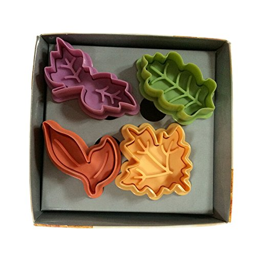 Yunko Cake Leaves Baking Pie Crust Cutters Set of 4 (Pie Decorating Set compare prices)