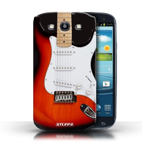 Stuff4 Phone Case / Cover For Samsung Galaxy S3/Siii / Red Electric Design / Guitar Collection
