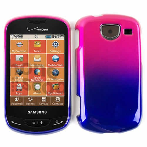 SHINY CASE COVER FOR SAMSUNG BRIGHTSIDE U380 TWO COLOR PINK BLACK BLUE