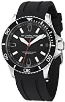 Stuhrling Original Men's 706.01 Aquadiver Regatta Diver Sport II Quartz Date Black Rubber Strap Watch by Stuhrling Original