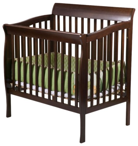 delta children products riley mini crib dark cherry