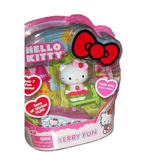 Hello Kitty Rollin' Action Mini Figure- Berry Fun - 1