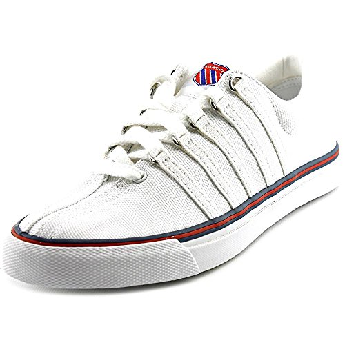 K-Swiss Women's Surf 'N Turf OG 50th? 50th/White/Classic Blue/Ribbon Red Canvas Sneaker 8 B (M)