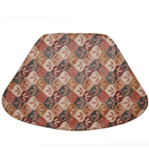 Fall Check Wipe Clean Wedge-Shaped Placemat for Round Tables