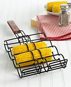 Charcoal Companion CC3000 Non-Stick Adjustable Corn Grilling Basket