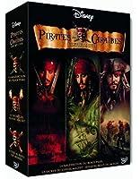 Pirates des Caraïbes - La trilogie : La malédiction du Black Pearl + Le secret du coffre maudit + Jusqu'au bout du monde - coffret collector 4 DVD