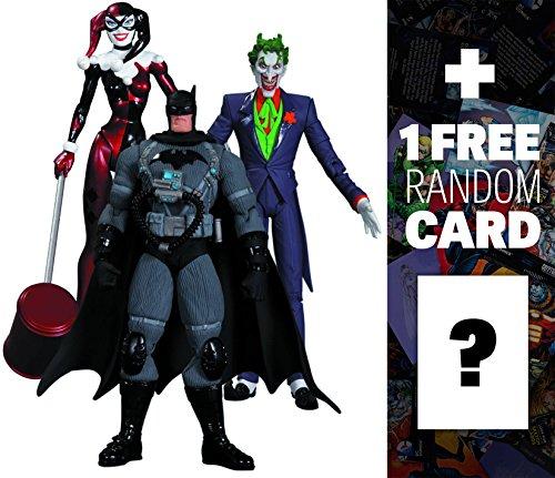 The Joker, Harley Quinn, Stealth Batman: DC Collectibles Batman Hush 3-Action Figure Box Set + 1 FREE Official DC Trading Card Bundle [316628]