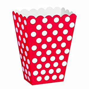 """Régal des boîtes 5-1/2 """"X 3-3/4"""" 8/Pkg-Ruby points décoratifs rouges"""