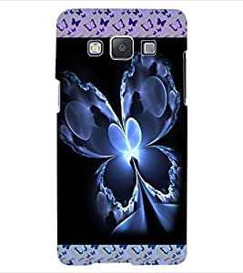 ColourCraft Beautiful Butterfly Design Back Case Cover for SAMSUNG GALAXY E5