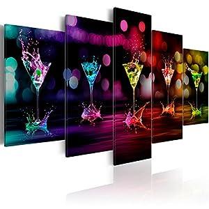 XXL Format + Bilder XXL & Fertig Aufgespannt & Top Vlies Leiwand + 5 Teilig + Wand Bilder + 030107-2 + 200x100 cm +++ B&D XXL + Riesen Bilder Kunstdruck Wandbild +++