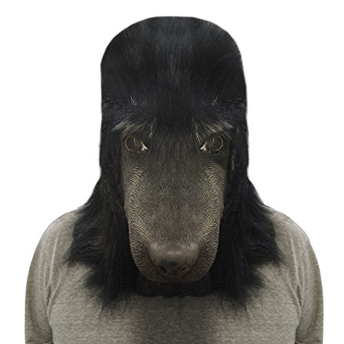 Off the Wall Toys Kennel Club - Black Standard Poodle Face Mask