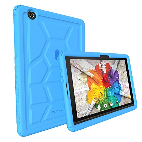 LG G Pad X 10.1 II Case - Poetic Rugged Protective Silicone Case [Corner/Bumper Protection][Grip][Sound-Amplification][Bottom Air Vents] for LG G Pad X 10.1 II (2016)(Model#:LGUK750) Blue (Lg G Pad Protective Case compare prices)