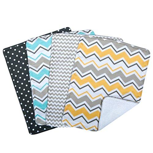 Trend Lab Zigzag Bouquet 4 Piece Burp Cloth Set