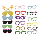 SAVFY Funny 58 piece DIY Kit for Wedding Party Reunions Birthdays Photobooth Dress-up Accessories & Party Favors, Costumes with Mustache on a stick, Hats, Glasses, Mouth, Bowler, Bowties